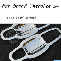 High Quality ABS Chrome Car Accessories Door Handle Bowl Cover Fit For Jeep Grand Cherokee SRT