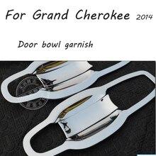 ABS Chrome Car Door Handles Bowl Exterior Door Bowl Cover Trim 8 pcs/set Car Accessories For Jeep Grand Cherokee SRT 2014 2015