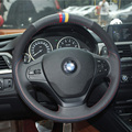 Car- Styling New Anti Slip Swede Leather Steering Wheel Stitch on Wrap Cover For BMW 320li 2013