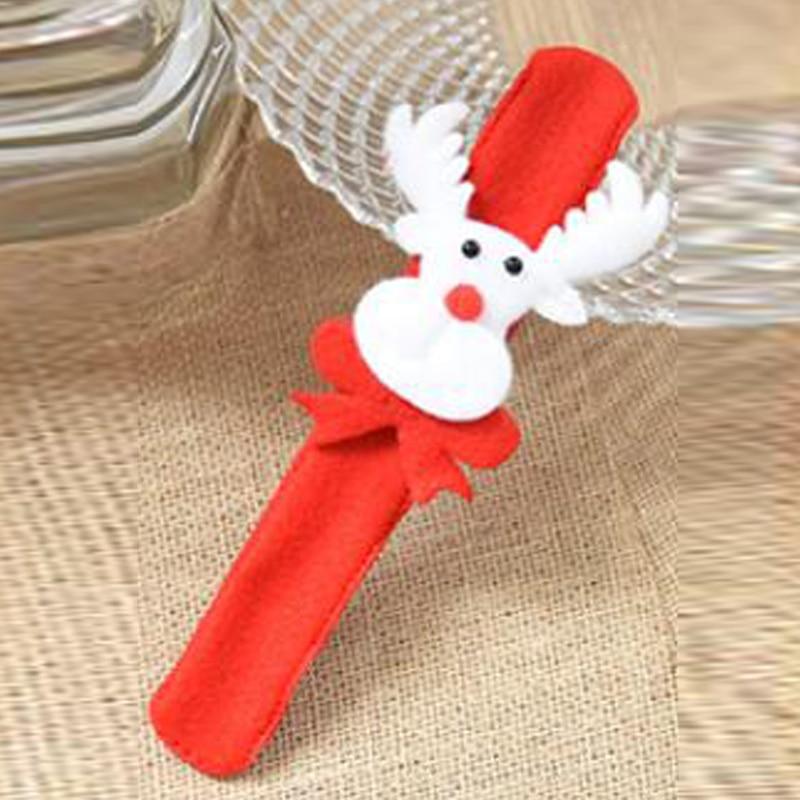 Chrismas Jewelry Slap Pat Circle Bracelet Santa Claus Decoration Xmas Gift Party