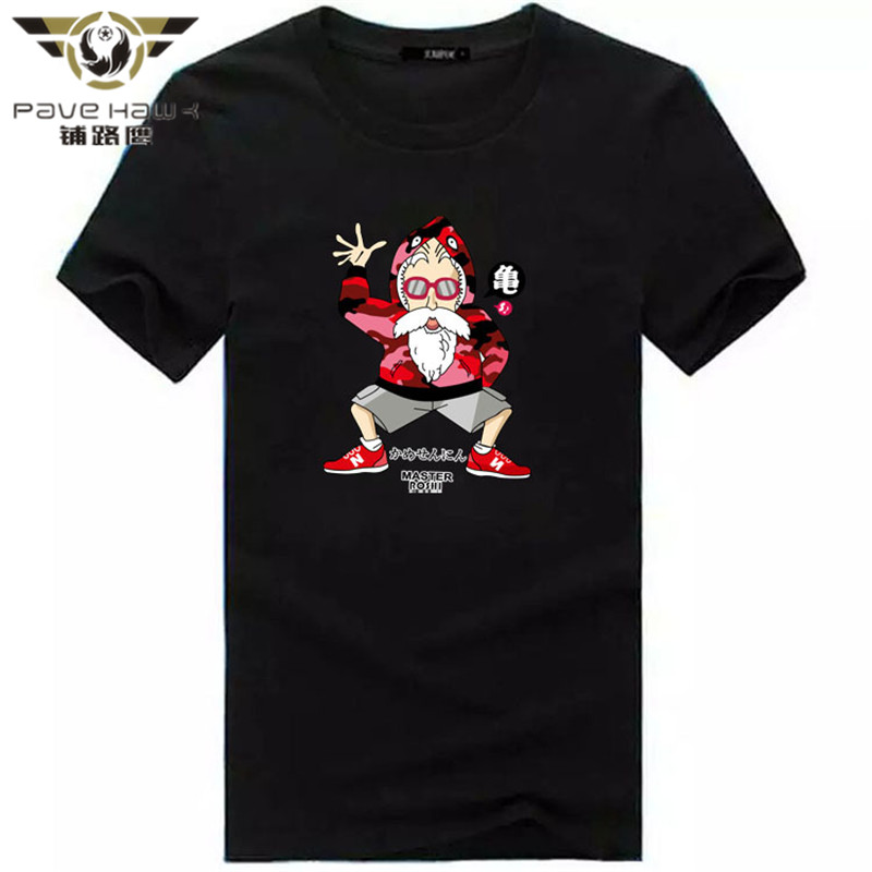 2017 Newest Men Fashion Blue and Red Goku Design T shirt Novelty Tops Dragon Ball Custom Printed Short Sleeve Tees
