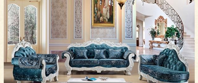 European High End Living Room Furniture,Fashion Luxury Royal Velvet Sofa Set