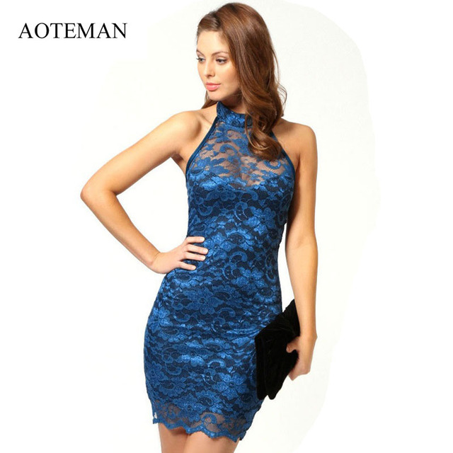 AOTEMAN 2019 Sexy Summer Spring Women Dress New Elegant White Lace Ladies Dresses Christmas Vintage Bodycon Party Dress Vestidos