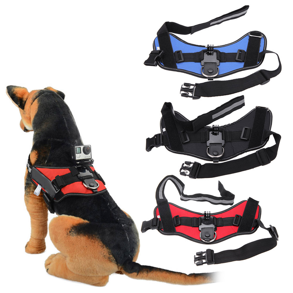 Quick Release Dog Fetch Mount Harness Chest Strap for Gopro Accessories Go Pro Hero 4 3+ 3 2 1 Xiaomi Yi Camera Black Edition