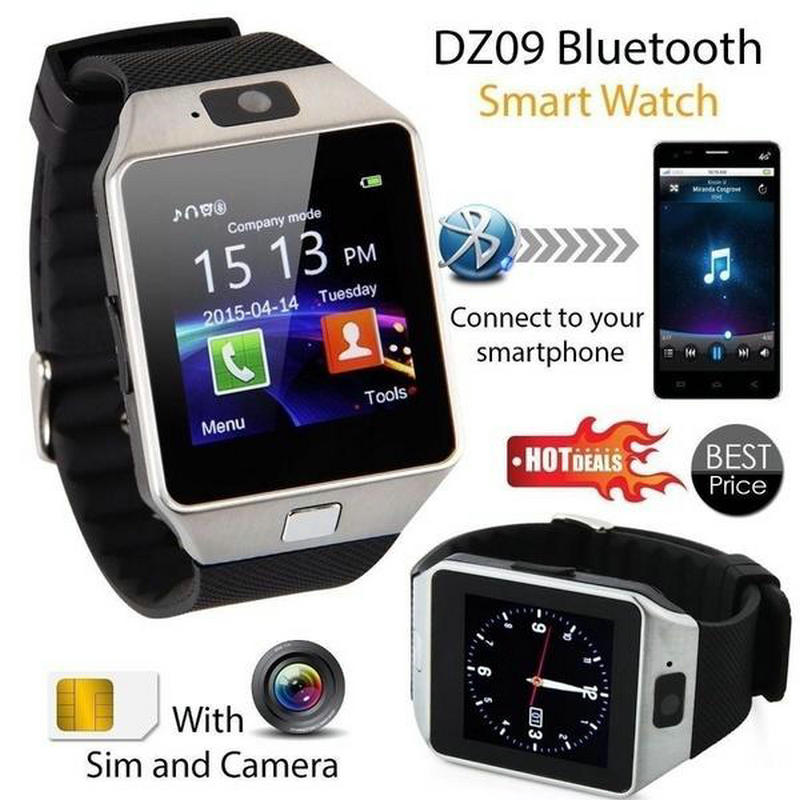 Bluetooth Smart Watch Android Phone Camera Sim Card DZ09 LCD Display Universal Remote Camera Smartwatch For IOS Touch Operating