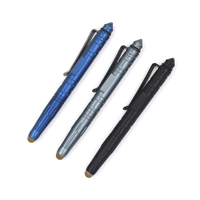 EDC Outdoor Self Defense Tactical Pen Multi-Tool Tungsten Steel Glass With Capacitive Touch Stylus Pen Defense Pen  FC