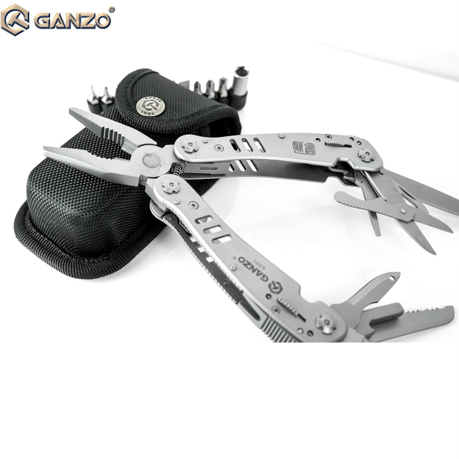 Ganzo G301 Motor Multi Pliers Tool Kit w/ Lock Outdoor Camping Nylon Pouch  EDC stainless multi functional folding knife tools ganzo g729 gr axis lock folding knife pocket clip