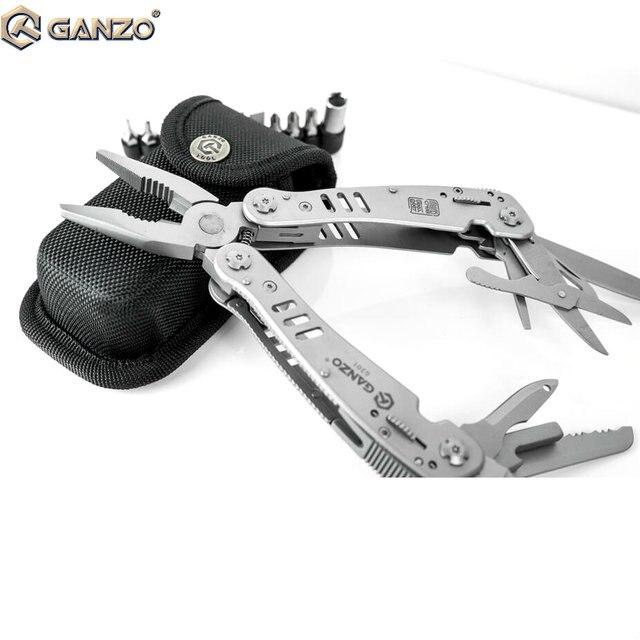 Ganzo G301 мотор нескольких плоскогубцы; Набор инструментов w/Блокировка Открытый Отдых нейлоновый чехол EDC нержавеющей Мультифункциональный складной нож Инструменты