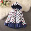 2016 Cartoon Minnie Winter Jacket For Children's Girls Hooded Kids Girl Warm Down Coat Clothes Fashion Baby Parka Clothing