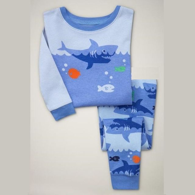 boys shark pajamas baby cartoon clothing sets kids pyjamas pijamas  boys shark pajamas baby cartoon clothing sets kids pyjamas pijamas boys girls full sleeve sleepwear night