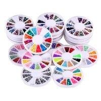 20 unids Polvo Del Arte Del Clavo 3D Decoraciones UV Gel Polaco del Barniz Manicura Glitter Lentejuelas Rhinestone Consejos Decoración de Uñas Herramientas