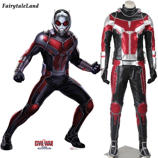 captain america civil war ant man cosplay costume adult halloween costumes for men superhero ant