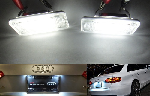 Xenon White Error Free LED License Plate Lights Lamps For Audi A3 A4 A6 S6 A8 Q7 B6 B7,Rapid air parcel sent free of charge