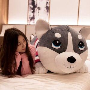 Image 4 - Peluches de 80 120cm, 1 pièce, jouets animaux grands chiens Husky, poupées en peluche, coussin doreiller, cadeaux danniversaire pour bébés enfants, décoration de la maison