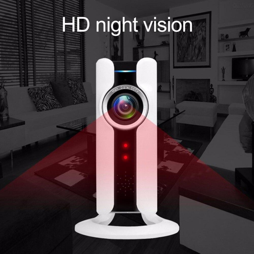 IP WIFI cámara panorámica VR 180 grados 720 p HD cámara de seguridad vigilancia de Control remoto para el hogar Oficina noche visión