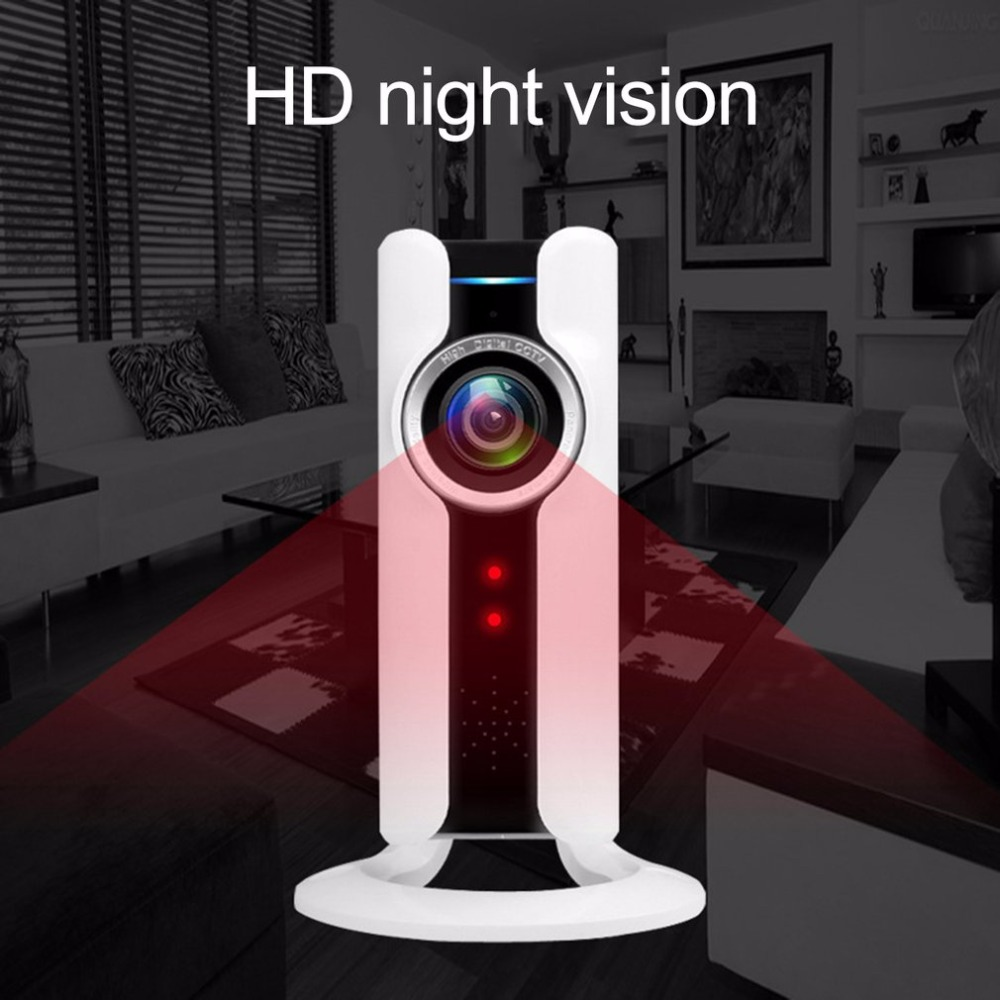 WIFI IP Panoramic Camera VR 180 Degree 720P HD Security Camera Remote Control Surveillance Camera For Home Office Night Vision wireless ip camera hd 180 degree panoramic home security camera 720p baby monitor night vision wi fi camera remote control