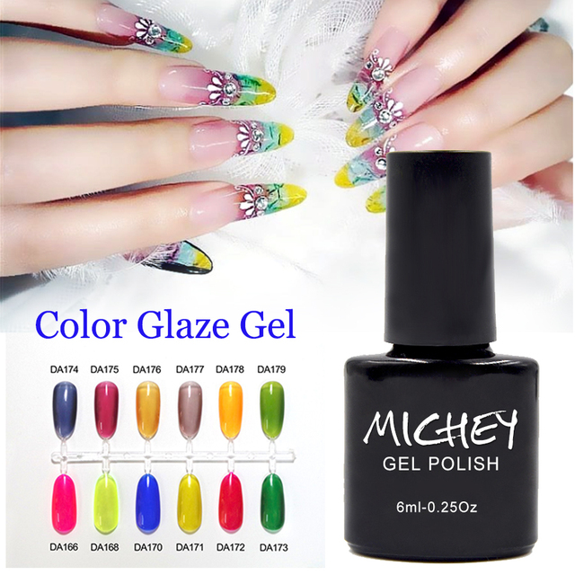 Bling UV Color Gel Nail Extension French Manicure Transparent Nails Art Glaze