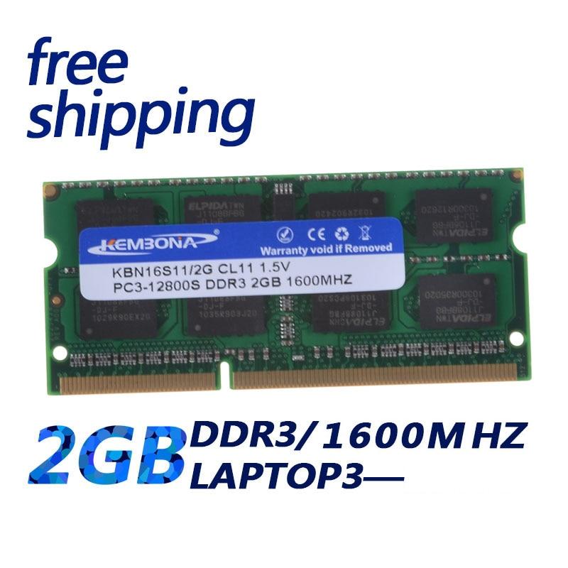 KEMBONA Sodimm Laptop Ram DDR3 With 2GB 4GB 8GB Memory Capacity 9
