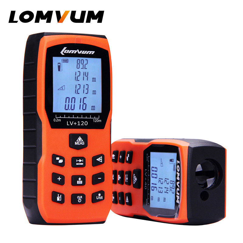LOMVUM Governante Fita Métrica Trena Medidor Laser Digital Medidor de Distância Medidor Range Finder Lazer Metreler 40m 50m 60m 80100m120m