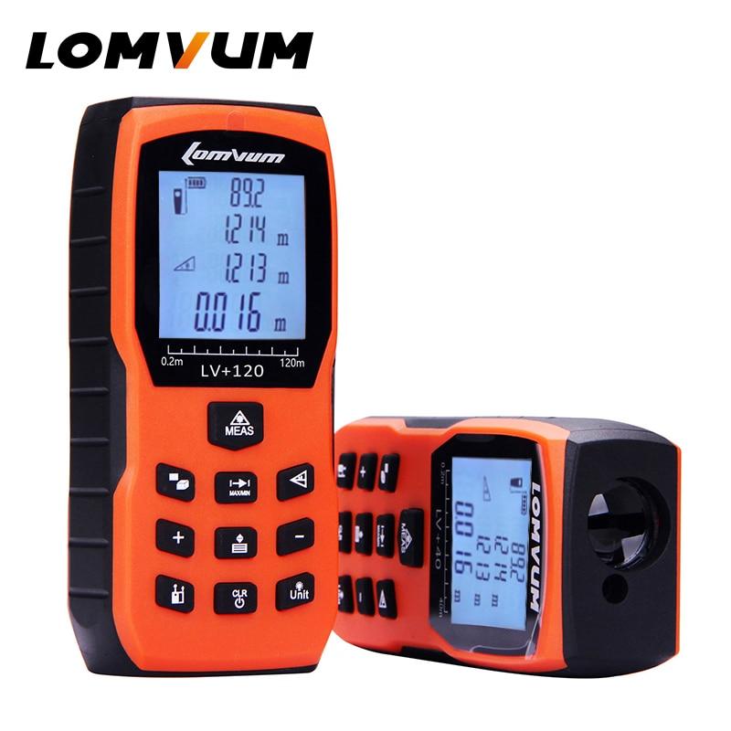 LOMVUM Trena cinta medidora láser regla Medidor de distancia Digital Medidor de rango buscador Lazer Metreler 40 M 50 m 60 m 80100m120m