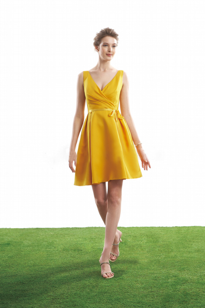 aliexpresscom buy free shipping br 159 sexy short country bridesmaid dress yellow gold bridesmaid dresses gold color from reliable dress with long sleeve - Gold Color Dress