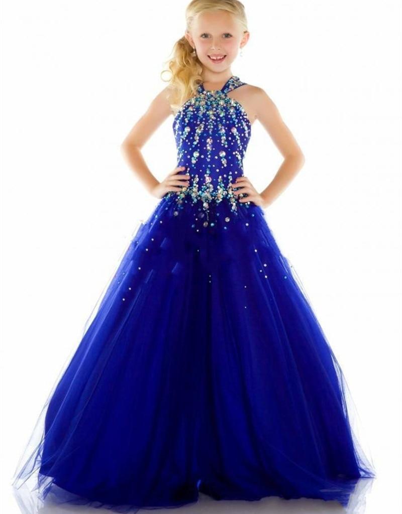 Vestido de daminha para casamento navy blue pageant ...