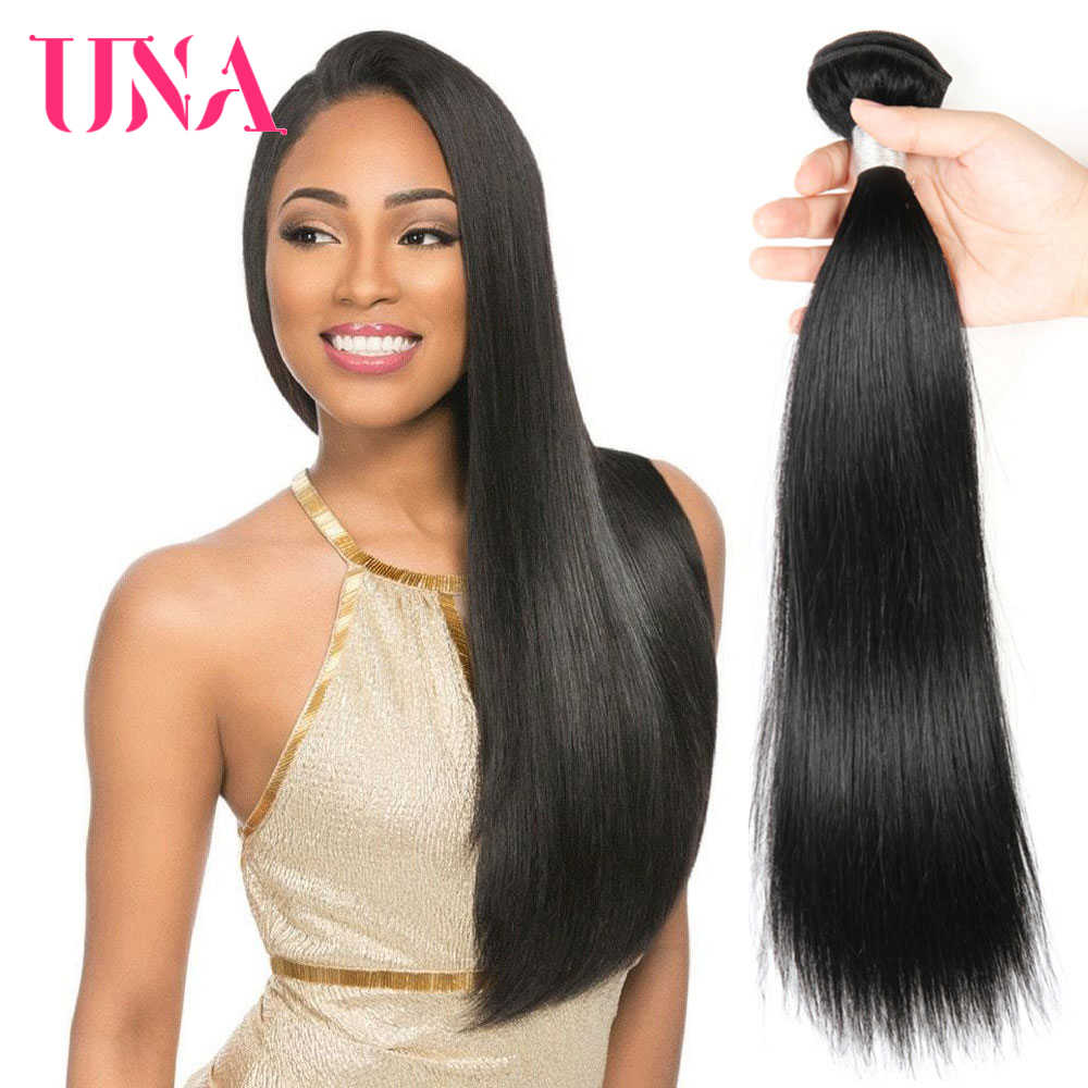 UNA Malaysian Human Hair 1 Piece Pack #1 #1B #2 #4 Malaysian Straight Non-Remy Hair Weft Human Hair Weave Bundles 8-28 inches