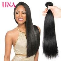 UNA Malaysian Human Hair 1 Piece Pack #1 #1B #2 #4 Malaysian Straight Non Remy Hair Weft Human Hair Weave Bundles 8 28 inches