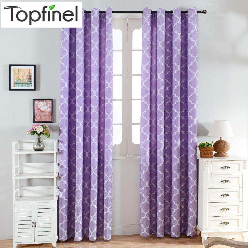 top finel quatrefoil moderna ventana de cortinas para la sala de estar dormitorio cocina paneles