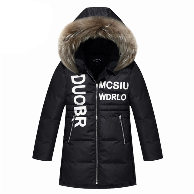 23c36fbdc65d Top Quality!2017 Girls Real Raccoon Fur Collar Quilted Waterproof ...