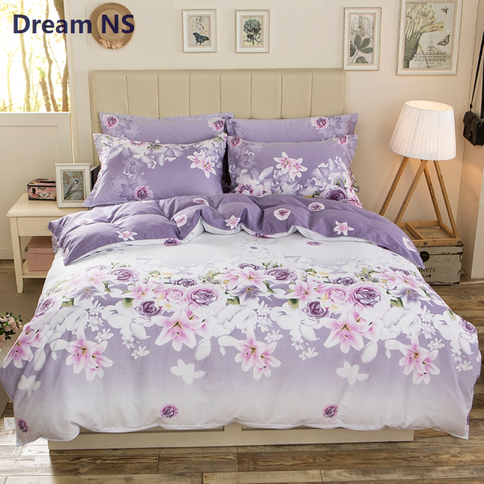 Ahsnme Gentle Floral Duvet Cover Set 100 Cotton High