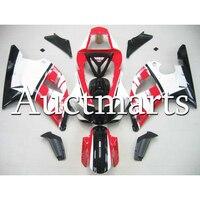 Новый красный, черный и белый корпусов для Yamaha YZF1000 R1 00 01 ABS инъекций YAMAHA мотоцикл обтекатель Год 2000 2001 кузов 100% fit