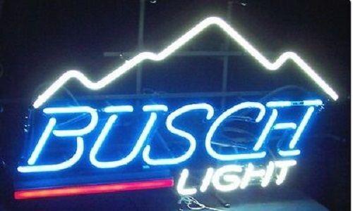 Custom Busch Glass Neon Light Sign Beer Bar