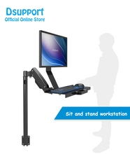 W815A Gas Spring Arm Full Motion Customized Keyboard Monitor Holder Floor Stand Wall Side Mount Stand Working Monitor Mount Arm цена 2017
