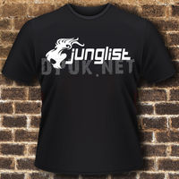 JUNGLIST T SHIRT TOP VESTAX TECHNICS DJ DRUM BASS 100 Cotton T Shirts Brand Clothing Tops