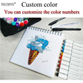 Custom colors sketch art Supplies mark pen Alcohol Marker pen soluble pen cartoon graffiti markers for designers markers