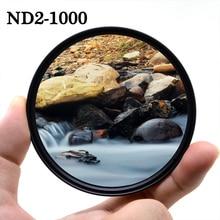 KnightX ND2 a ND1000 Filtro de lente ND para canon eos sony nikon d80 color 1200d dslr d600 d5300 d70 49MM 52mm 55mm 58mm 67mm 77mm