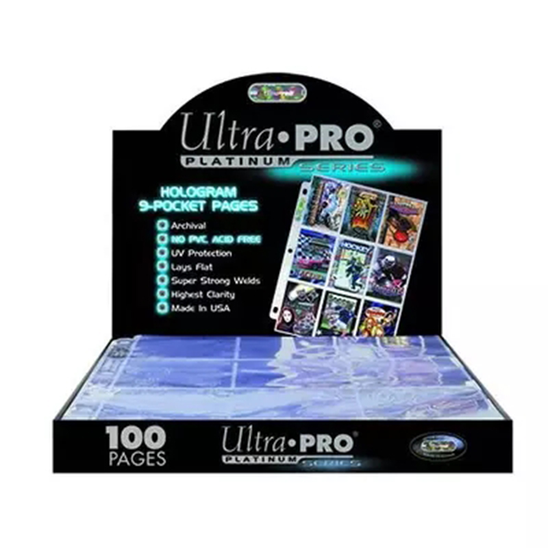 High Quality Ultra Pro Cards Album pages Cards Collection book pages with 9 slots/page for Board Game Trading Cards Pages image