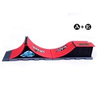 Free Shipping Model A+E Mini Ramp Finger Skateboard Park/Skatepark Skateboard Platform Includes 2 Finger Board
