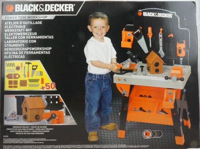 c3fc69597 HSB-toys BLACK & DECKER Junior Power Tool Workshop 50+ tools&accessories  real working