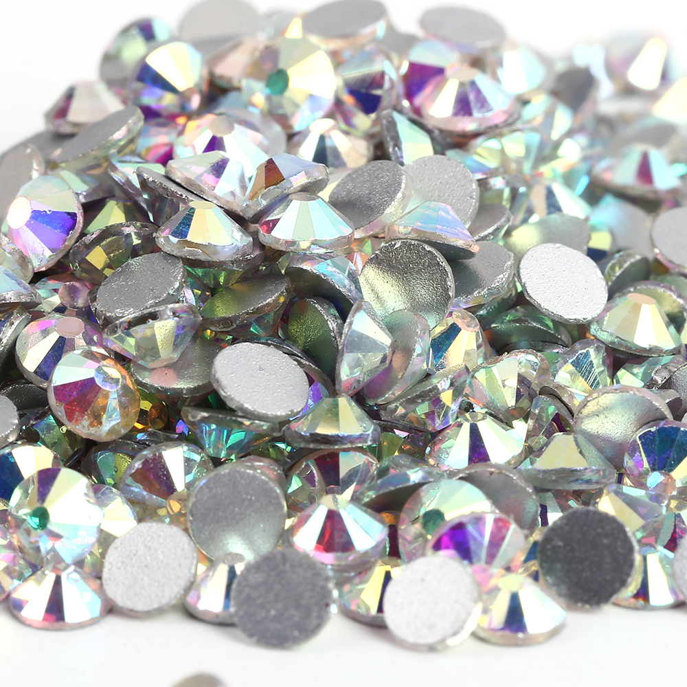 SS30 Crystal AB color 288pcs Non Hotfix Rhinestones 6.3-6.5mm 20ss crystal flatback Nail Art Rhinestones super shiny 5000p ss16 4mm crystal clear ab non hotfix rhinestones for 3d nail art decoration flatback rhinestones diy