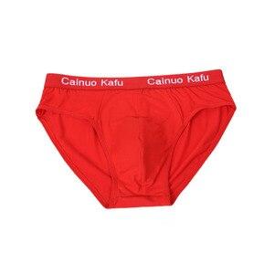 Image 5 - 2019 Solid Slips Fabriek Directe Verkoop 4 stks/partij Korte Heren Bikini Ondergoed Broek Voor Mannen Sexy Ondergoed modale 4XL /5XL/6XL