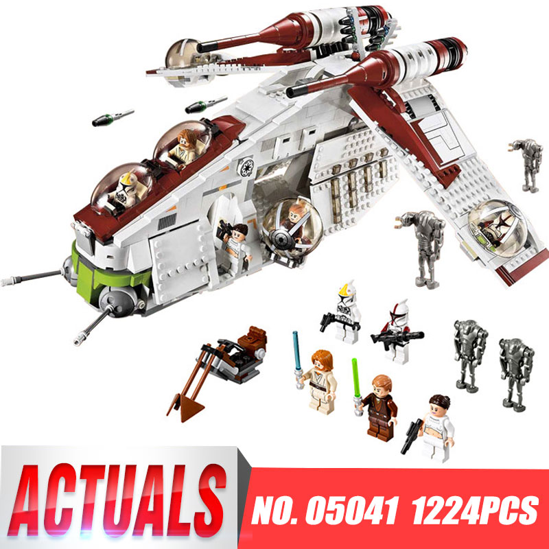Lepin 05041 Star Toys Wars Compatible legoinglys 75021 Republic Gunship Set Children Educational Blocks Christmas Gifts For Boys цена