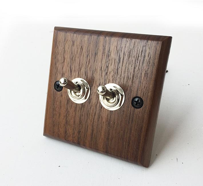 Wood  Retro   Wall  Switch Wooden Two Control  Two  Way   6A  110V- 250V 118 style elegant white light switch four control two way 10a 110v 250v