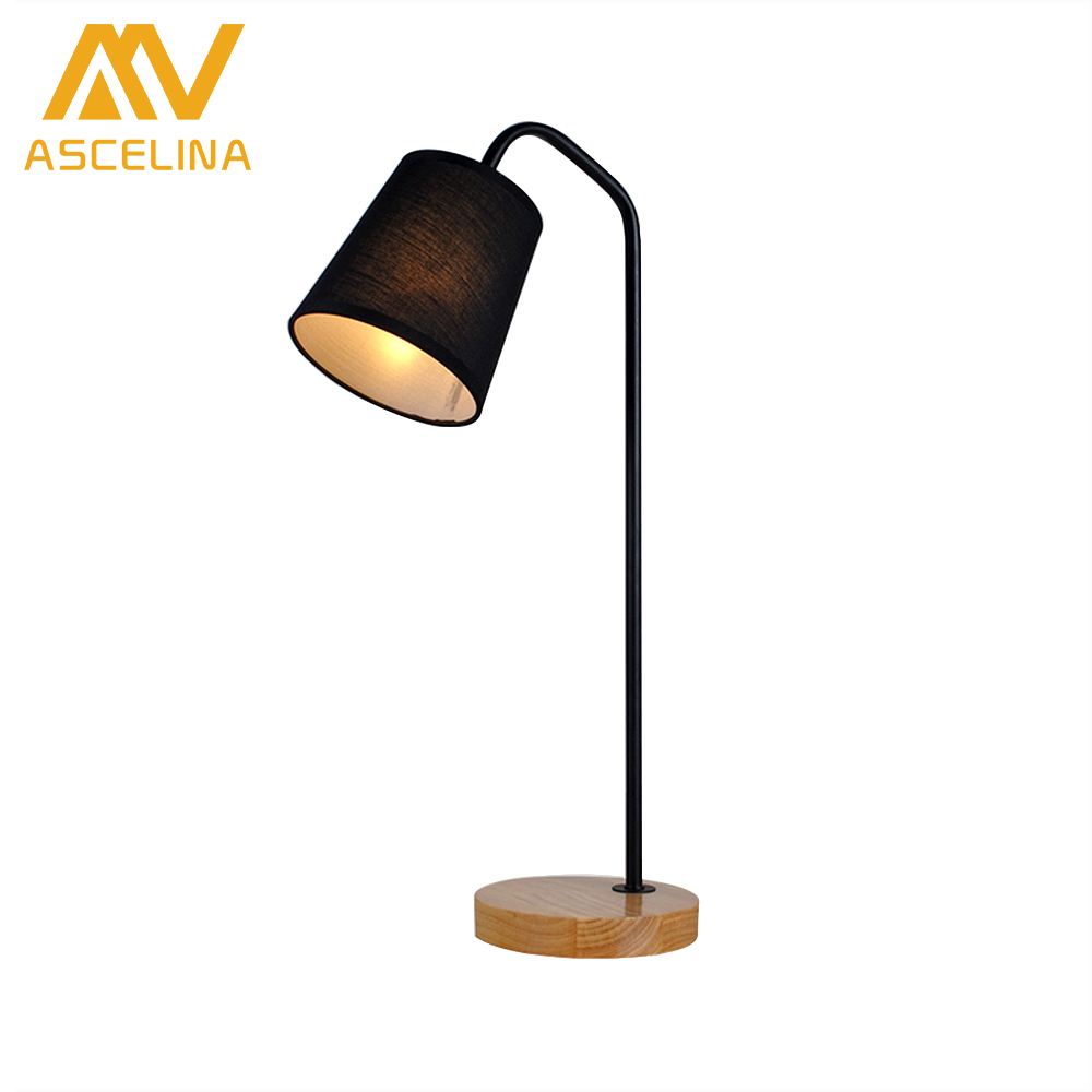 ASCELINA Nordic Modern Creative LED Table Lamp Fabric Crafts Dimmable Desk Lamp for bedroom living room study room hotel office modern minimalist living room floor desk lamp dimming study creative table lamp lighting