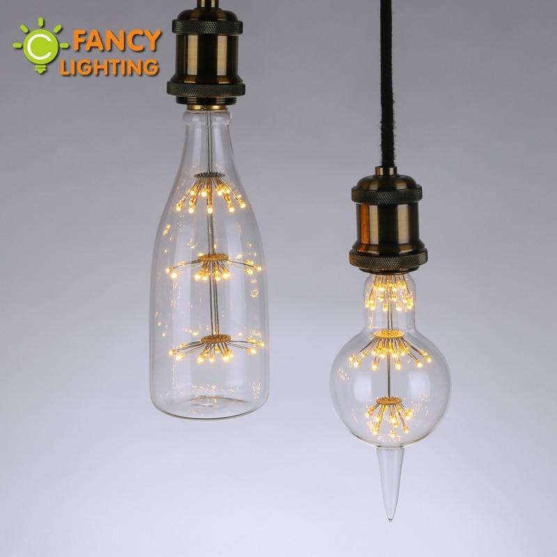 Led Bulb E27 Fireworks Led Lamp 110v 220v Holiday Lights Novelty Edison Filament Bulb For Home