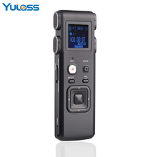 Yulass Dictaphone Voice Recorder 4GB Black USB Business Portable Digital Audio Recorder With MP3 Player/WAV For Sales