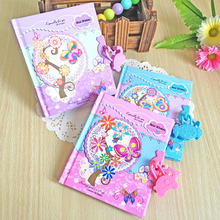6 Pcs/lot Creative Mini Small Stationery Gifts Cartoon Butterfly Padlock Diary Paper Notebook Note Book Journal Agenda Planner