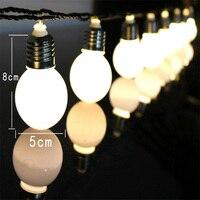 LED solar simulation retro light bulb metal nut outdoor decoration light bulb string light bulb