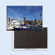 Free Shipping over $12,Auckland,New Zealand  Skytowe Rectangle Metal Fridge Magnet 5474 Tourism Souvenir n•z•a• new zealand auckland повседневные брюки